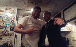 Adam Kokesh (Right) In Adams traveling home.