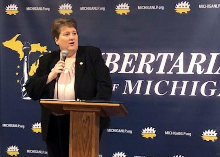 Libertarian State Senator Laura Ebke of Nebraska at Libby Fest