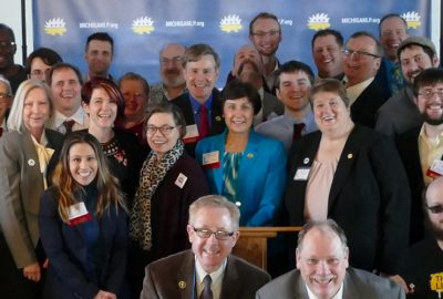 A portion of the many delegates who participated in a group shot. Photo by Jess Mears