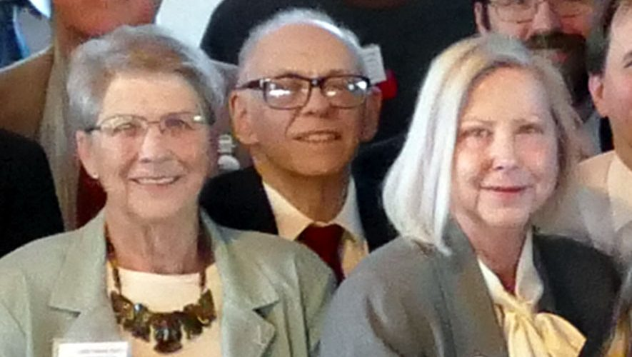 Leonard Schwartz can be found in a larger group photo taken by Jess Mears.