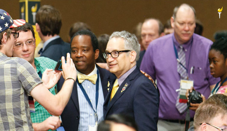 Image Clipped from the National Convention signup website. This image features notable delegate: The Late Marc Feldman (That Libertarian) with former Michigan Chair and Gubernatorial Primary winner Bill Gelineau in the background.