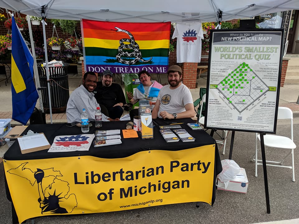 Libertarian Party of Oakland County members at Ferndale Pride Fest.