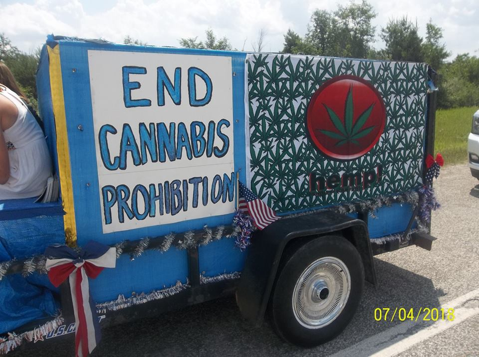 "Driver's side of the ""Cannabis Wagon"" End Cannabis Prohibition"