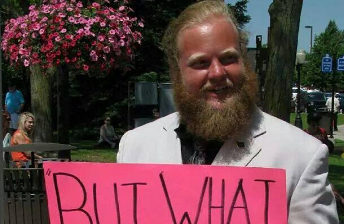 James Weeks II at a free speech protest.