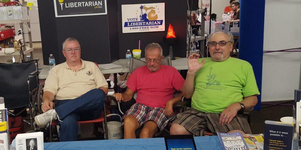 Larry Johnson. Bruce Smith, and Jim Hudler (Left to Right). Photo by Mary Buzuma.
