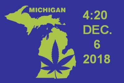 Marijuana becomes legal In Michigan on December 6th.