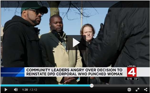 Click to play video. From left to right: Charles Williams III (NAN-MI), Commissioner Willie E. Burton (BOPC), and Scotty Boman (DRACO).