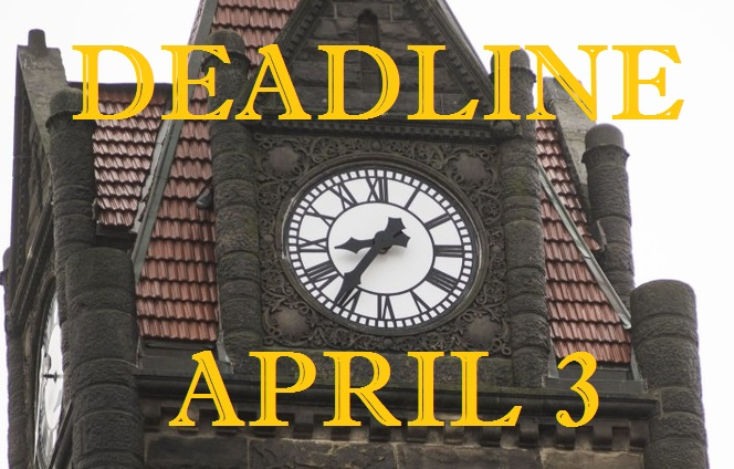 Deadline April 3