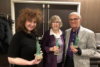 Lisa Gioia Randy & Dianne Szabla with their 2018 Defender of Liberty Awards at the 2019 LPM Convention.