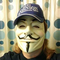 Anonymous Libertarian in a Guy Fawkes mask.