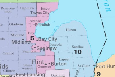 Michigan's Fifth Congressional District. Cropped from public domain Wikimedia image.