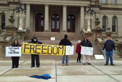 Civil libertarians: Michelle Grgoire, Scotty Boman, Gregory Creswell, Adam Heikkila and Jeff Phillips.
