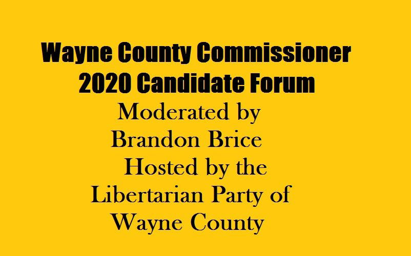 Wayne County Commissioner candidate forum banner
