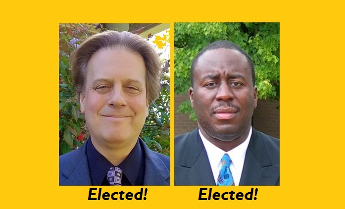 Elected Community Advisory Council-members, Scotty Boman and Gregory Creswell