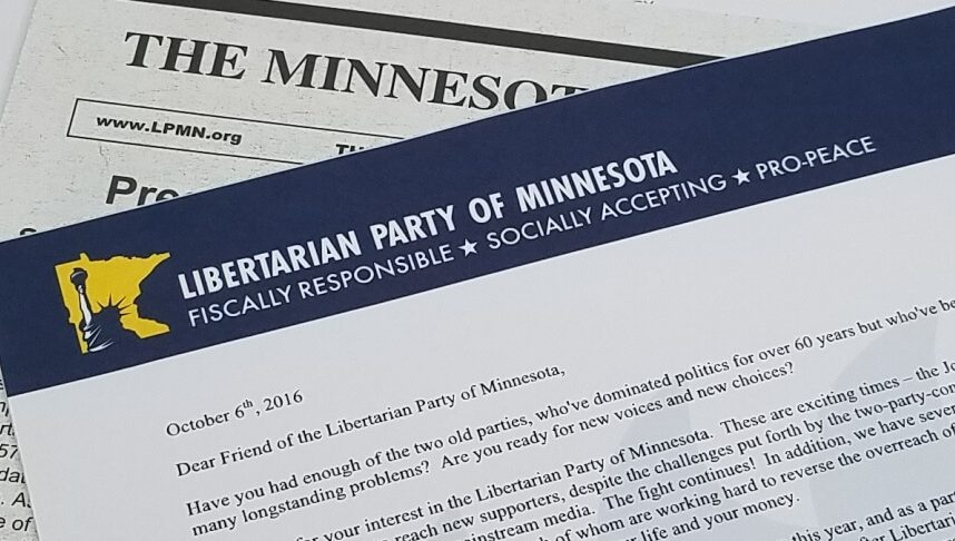 Mailers can help Libertarian campaigns.